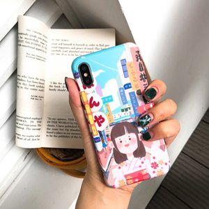 Japanese and Korean Street Girls Apply 6splus Apple X Iphone7 8plus Frosted Silicone Case