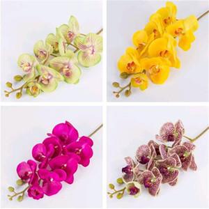 HOT künstliche Blumen Phalaenopsisorchidee 100cm realen Note latex hochwertigen Schmetterlingsorchidee Pflanze Silikon Blumen stammen