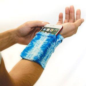 Spandex Likra Kol Çantası Elastik Kuvvet Bilek Çanta Adam Kadın Açık Spor Cep Telefonu Kılıfı Yeni Varış 10jl L1