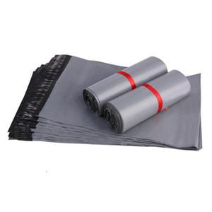 100pcs Cinzento Plástico Courier Mail Bag Auto Seal Publicar Divulgação Mailer Expresso Poly sacos para Pack 8 Tamanhos