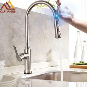 Touch Senser Kitchen Faucet 360 Rotation 스마트 주방 수전 센서 Tap Single Handle Mixer Tap