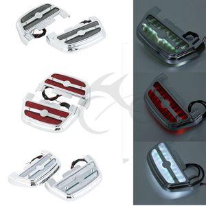 3 Stil LED-Licht Soziustrittbrettboden-Abdeckung für Touring Softail Road King FLHR Fat Boy Electra Motorrad