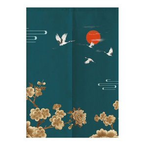Japanese Noren Doorway Curtain Tapestry Room Partition Curtain- Flying Crane