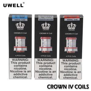 Uwell Crown 4 IV катушки 0.2 ohm 0.4 ohm Dual SS904L головки UN2 Mesh замена сердечников 0.23 ohm для Crown 4 Tank Atomizer 100% аутентичный