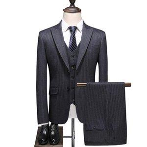 Free Shipping Men Plaid Wedding Suit Male Blazers Slim Fit Suits For Men 3-Piece Suit Blazer Business Wedding Party Jacket Vest & Pants