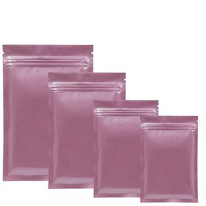 Gratuit DHL 1000 pcs / lot rose feuille d'aluminium Zip de verrouillage d'emballage Sac refermable Zipper Mylar Paquet Pochette Self Seal stockage emballage Sacs