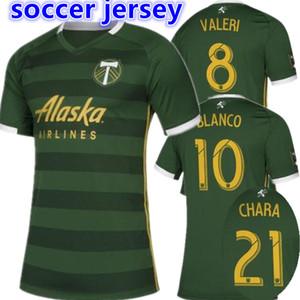 무료 배송 2019 2020 MLS 남자 포틀랜드 팀 홈 축구 유니폼 19 20 BLANCO CHARA VALENTIN VALERI MEN 축구 유니폼 셔츠
