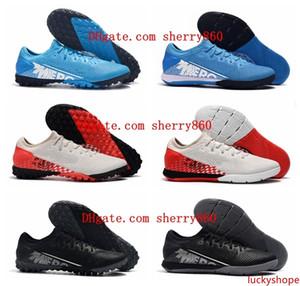 2019 en kaliteli yeni varış futbol ayakkabıları Mercurial Buharlar 13 Pro IC TF kapalı futbol profilli erkek CR7 Neymar futbol kramponları botas de futbol