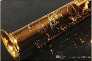 Professionelle Grade Frankreich Rollinsax RSS-9901 Split Straight Saxophon Sopran Sax Pitch B Plus G Key Brass Musik Mundstück