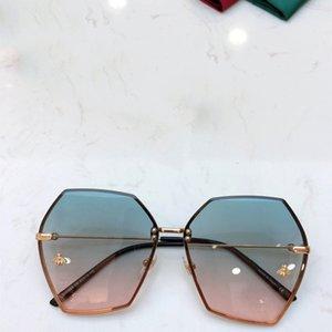 Vintage Arı Güneş gözlüğü Erkekler Kare Metal Poligon Çerçeve Güneş Ayna Klasik Güneş Gözlükleri Kadın Yaz Gözlük Süs