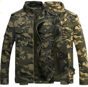 Otoño al aire libre fuerzas especiales de los hombres de camuflaje chaqueta informal de herramientas de algodón multibolsillo ejército fan militar Abrigos uniformes chaquetas