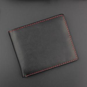 Adam Çanta Bifold Iş Deri Cüzdan KIMLIK Kredi Kartı Tutucu Çanta Cepler monedero hombre erkek cüzdan para ve kartlar için TQ-088