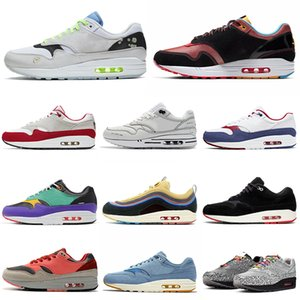 nike air max 1 87 airmax 1s 87s tênis de corrida homens mulheres des chaussures tênis masculinos de esportes