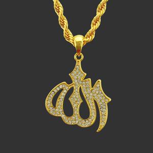 Kostenloser Versand Schmuck Luxus Hip Hop Rap Hip Hop-Anhänger Diamant-Legierung Feuer Grafische pendeloque Cut Halskette Männer Partei Halsketten-Geschenk