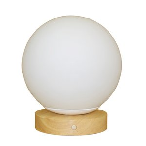 Creative bedroom bedside lamp remote control dimming eye protection nursing night lamp solid wood decoration rechargeable table lamp 10004