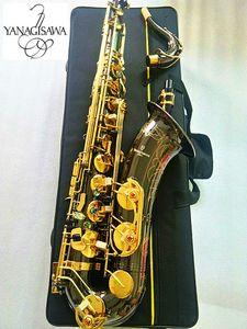 Nouvelle Marque Japanes YANAGISAWA W-037 B or nickel noir plat Tenor Saxophone Electroplated Instrument de musique professionnelle et cas