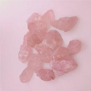 DHX SW натуральный розовый кварц Кристалл сырой рок минеральный образец точка палочка Роза Кристалл Камень рейки исцеление удалить отрицательную энергию