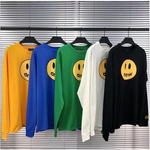 New Herren und Frauen Hoodies Sweatshirt Drew Haus Lächeln Printing Langarm-Kapuzenshirt Justin Bieber Stil Hoodies Street