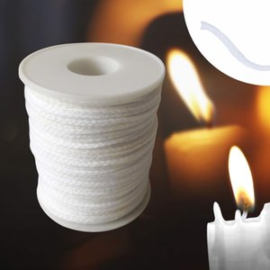 61m Core Hand Tool Cotton Spool Waxed Candle Wick Crafts For Candle Making Supplies Smokeless With Sustainers