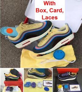Venta al por mayor 97 1 Sean Wotherspoon con caja TRIPLE BLANCO triple negro zapatillas deportivas Envío gratis