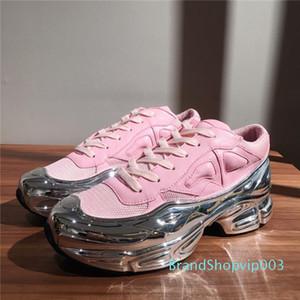 Männer Art und Weise überdimensionierte Sneakers Transparent Sohle leichte Ozweego Frauen Tennis-beiläufige flache Turnschuhe niedrige Spitze Raf Simons Turnschuhe c20