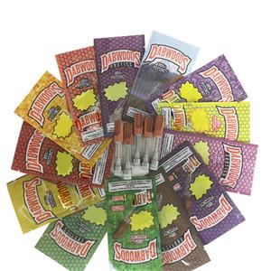 Dabwoods cartucce 510 Discussione confezione della cartuccia della penna Vape 0.8ml 1ML Cermaic Vape cartuccia Olio Atomizer E Cigarettes Vape Carts Tip Legno