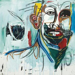arte Jean Michel Basquit pintada sin título Hombre Decoración Artesanías / impresión de HD pintura al óleo sobre lienzo de arte pared de la lona 200226