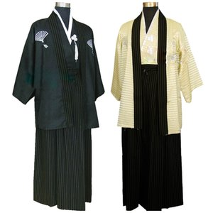 New models National Clothing Costumes of Traditional Japanese Samurai Men's Kimono Costumes Stage Polyester Performance Adult