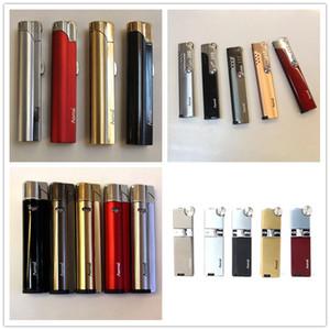 Véritable récent Aomai Compact Jet briquet au butane Meule feu cigarette droite Briquet Smoking NO Lady gaz cadeau 4 styles Choisissez