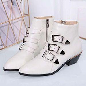 Mode féminine Botas Mujer Bottes en cuir tactique cheville pour femmes occidentales Rivets Vintage Chaussures cloutées Moto Punk Femme 1005108