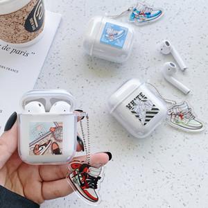Airpods Caso suave de la cubierta del auricular de la manera de los zapatos de la marca OFF funda protectora del Wateproof prueba de golpes para Apple Airpods 1/2