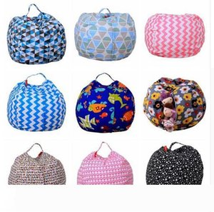 Storage Stuffed Animal Storage Bean Bag Chair Portable Kids Toy Storage Bag & Play Mat Clothes Home Organizer 43 Colors DHL Free Shipping