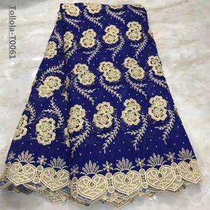 2019 Nouveau tissu de dentelle africaine Swiss Voile Lace. Tissus de dentelle de tulle français de haute qualité de mode de voile de guipure 5 verges pour la robe