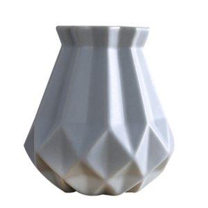 Gris Profil Européen Mat Diamant Vase En Porcelaine De Mode Moderne En Vase En Céramique Salle De Fleurs Apprentissage Corridor Maison De Mariage Déco