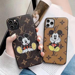 Caso de lujo de diseño clásico ratón Conjunto de teléfono para el iPhone 11 Pro XS Max XR X 7 Caso 8 Piel