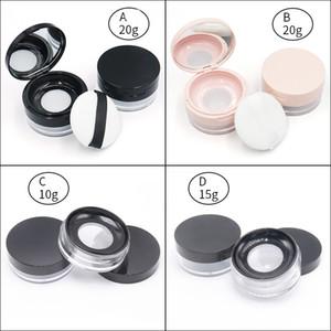 Elek ve Powder puf Kozmetik Plastik Pudra Vaka Konteyner 3g 5g 15g 20g DHL Serbest Packaging ile Yeni Pudra Kavanoz