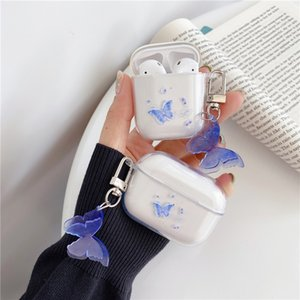arphone Accesorios lindo de la mariposa para el caso del auricular Airpods 2 1 cubierta de la historieta Capa transparente para AirPod Auriculares Caso Pro con Orna ...
