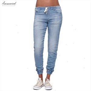 Jogger Casual Pants Elastic Sexy Skinny Pencil Jeans For Women Leggings Jeans High Waist Womens Denim Drawstring Pants