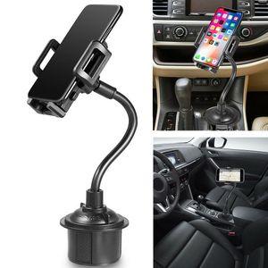 téléphone réglable Gooseneck Universal Cup Holder Support de voiture Téléphone Mont Long Arm pour téléphone portable GPS