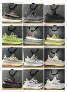 New Cinder Yecheil Yeshaya Black Static Reflective Kanye West Men Running Shoes Cloud White Earth Clay Zebra Beluga Women Trainer Sneakers