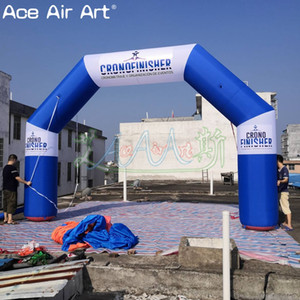Newest blue white arch balloon inflatable start finish line archway,square arches with free logo text for sale