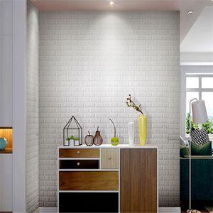 Auto-adesivo 3D Three-Dimensional Pattern Brick Wall Stickers Criativo Sala Quarto decoração fundo TV Wall Sticke