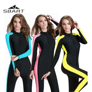 Sbart UPF50 + Schwimmen Schnorcheln Surfen Sport Bademode Ein Stück Wetsuit Damen Tauchanzug Badeanzug-Badebekleidung