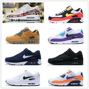 2020 respirável da Air Max 90 NIC QS homens correndo calçados casuais Retro Sneakers Max90 amortecimento Essencial Shoes EUR36-45