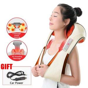 Nave veloce Home Auto elettrica Riscaldamento Torna Massaggiare Massaggiatore Cuscini Capo Shiatsu infrarossi impastamento Terapia dolore della spalla Relax