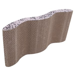 Cat scratch board Cool Wave-style Harden Corrugated Paper Pet Cat Toy Cat Claw-grinding Plate with Catnip Leopard Prin