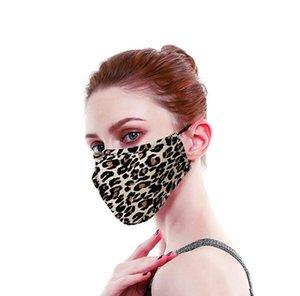3D Leopard печати мультфильм хлопок Маска для лица Рот черный Anti-Dust Анти загрязнения Респиратор маска Мода Камуфляж животных лица Рот маски