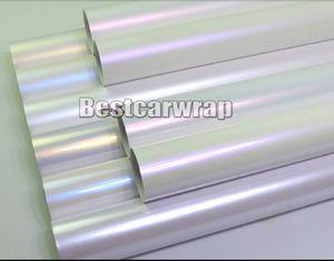 Diverses couleurs Pearl white gloss vinyl Wrap Covering Pour voiture wrap Low tack colle 3M qualité avec bulle d'air gratuit 1.52x20mRoll