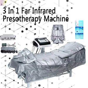 Profesyonel Pressotherapy Zayıflama makinesi hava basıncı lenf drenaj EMS masajı Uzak Kızılötesi Wrap Zayıflama vücut şekillendirme aletleri