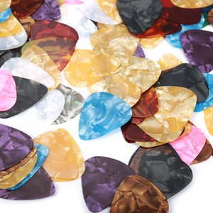 100 Pcs Custom Acoustic Electric Guitar Celluloid Picks Plectrums Mix Thickness